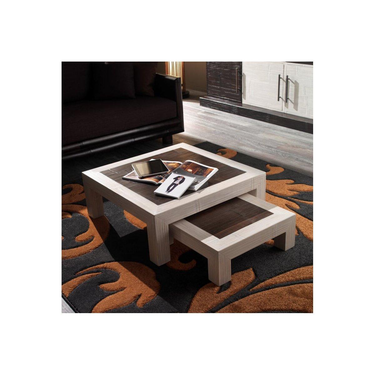 tavolini serie Hotel colore bianco e nero