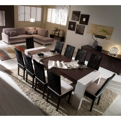 divano angolo TSU, panchina Essential, tavolo Stone