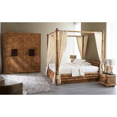 letto Monsoon contenitore con baldacchino e set tende