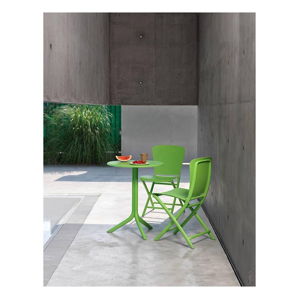 sedia Zac Classic e tavolino Spritz colore lime