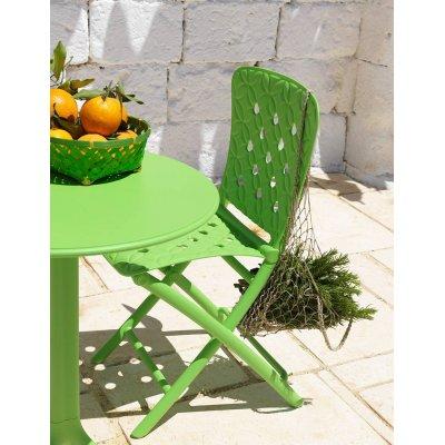 particolare sedia Zac Spring e tavolo Spritz colore lime