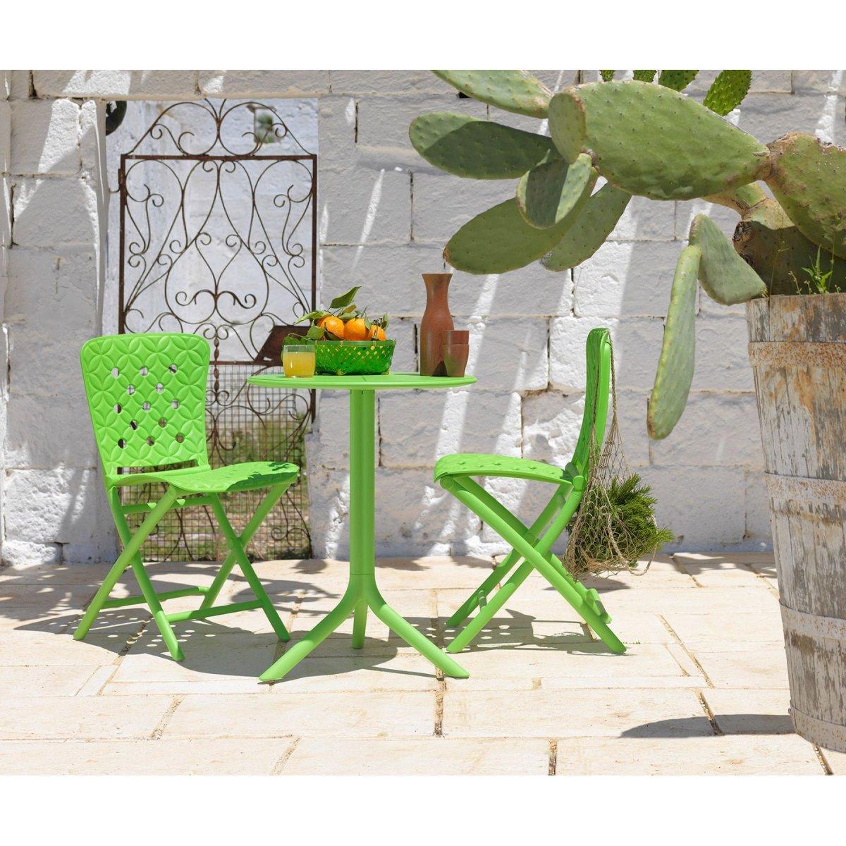 Sedia Zac Spring e tavolo Spritz colore lime