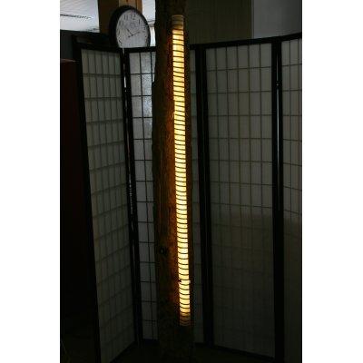 lampada Tronco di legno