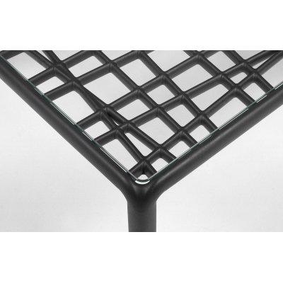 particolare komodo tavolino piano vetro colore antracite