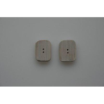 bottoni in bambù colore  decapato bianco
