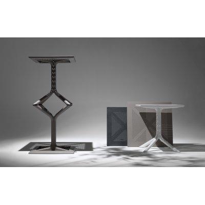 tavolino Clip colore tortora, bianco e antracite