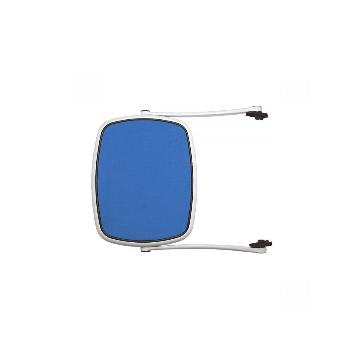 Parasole bianco con tessuto blu - combinazione n. 2 (S)