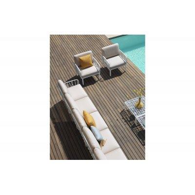 composizione Komodo colore bianco con tessuto Canvas sunbrella laminato n. 170