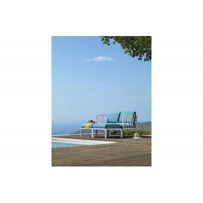 composizione Komodo colore bianco con tessuto acrilico Adriatic Sunbrella n. 142