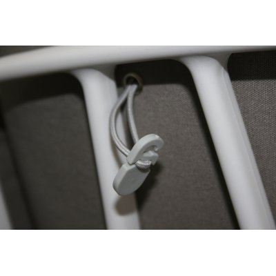 sistema di fissaggio del cuscino allo schienale