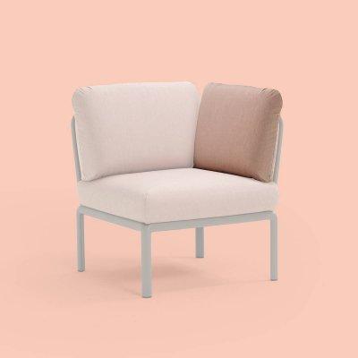 cuscino schienale angolo Komodo in tessuto acrilico rosa quarzo n. 066