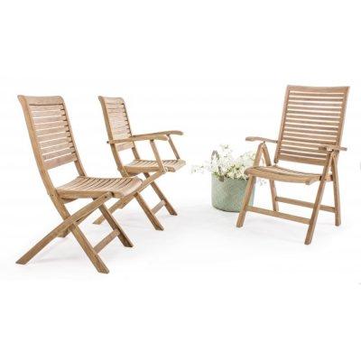 sedie serie Bali: senza braccioli, con braccioli e reclinabile