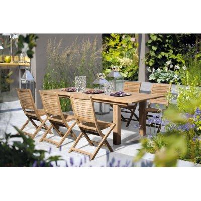 tavolo Skorpio 100 x 160/220 con sedie Bali senza bracciolo