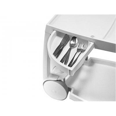 particolare carrello Galileo bianco cassetto estraibile