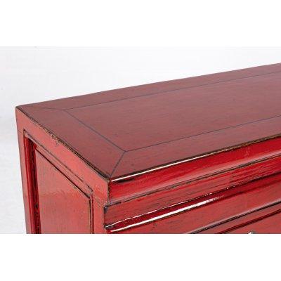 particolare della Consolle 3 cassetti Jinan rosso