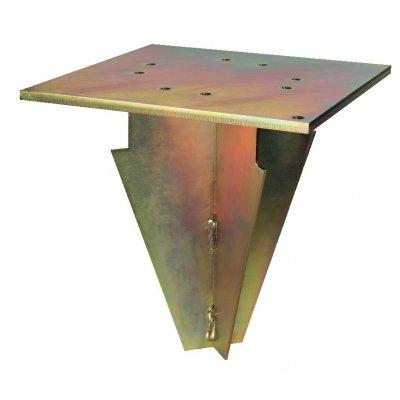 supporto da interrare in acciaio zincato codice BTB