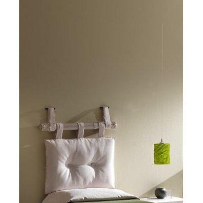set testiera canna 100 colore bianco con cuscino 55, bottoni bianchi
