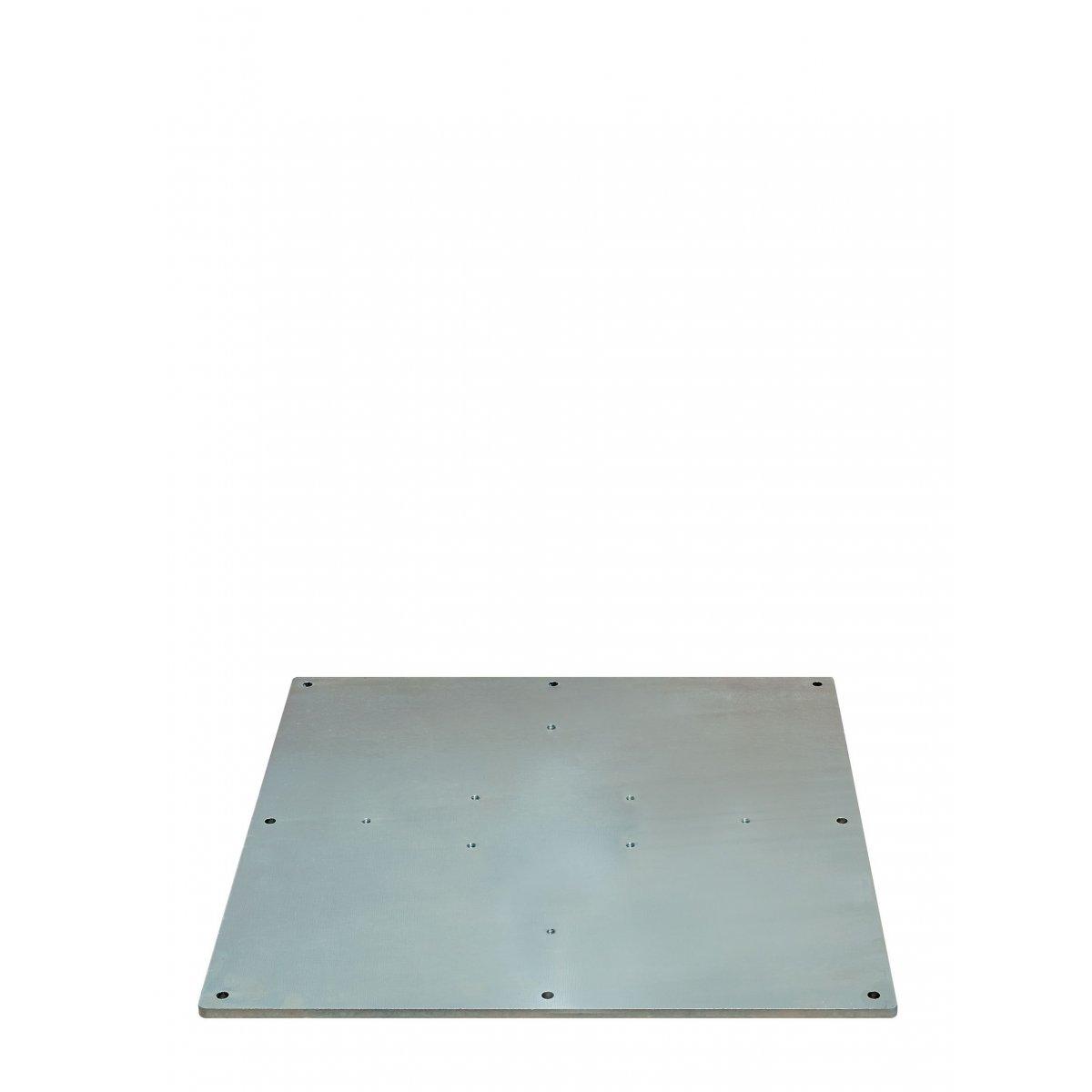 contropiastra in acciaio zincato adatta per tutti i tipi di ombrelloni prodotti da Scolaro Parasol