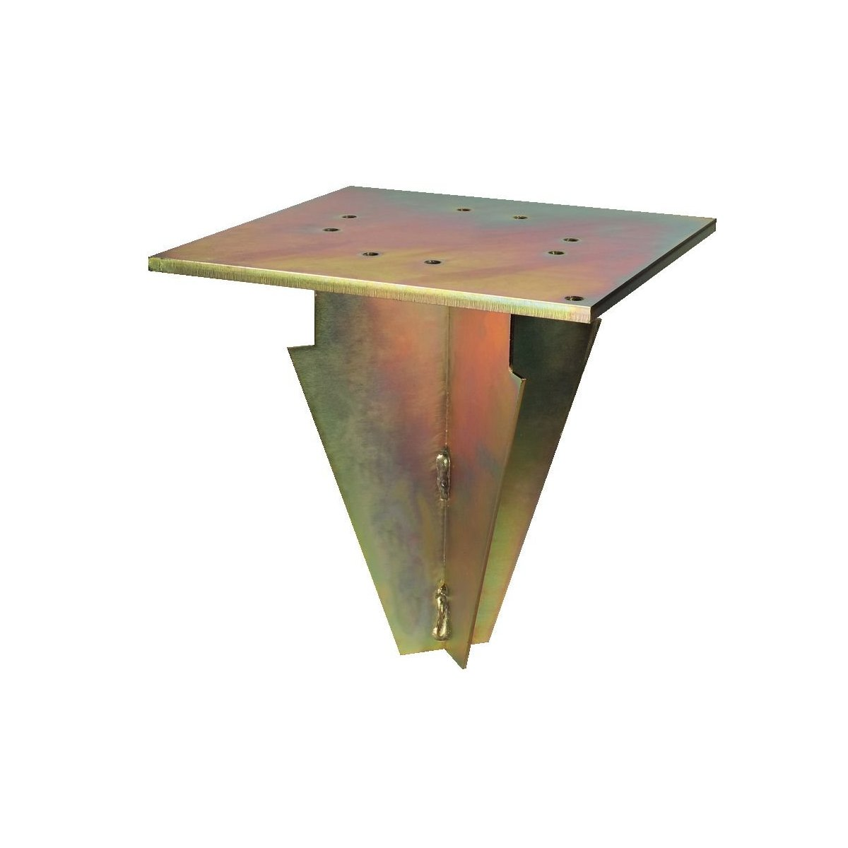supporto in acciaio zincato da interrare per ombrelloni Scolaro