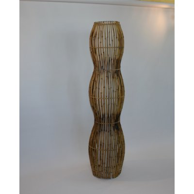 lampada in bambù modello Onda