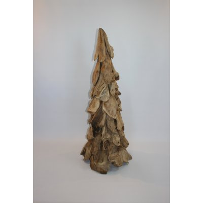 albero di Natale in radici di tek