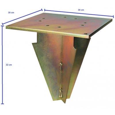 misure del supporto in acciaio zincato da interrare per ombrelloni Scolaro