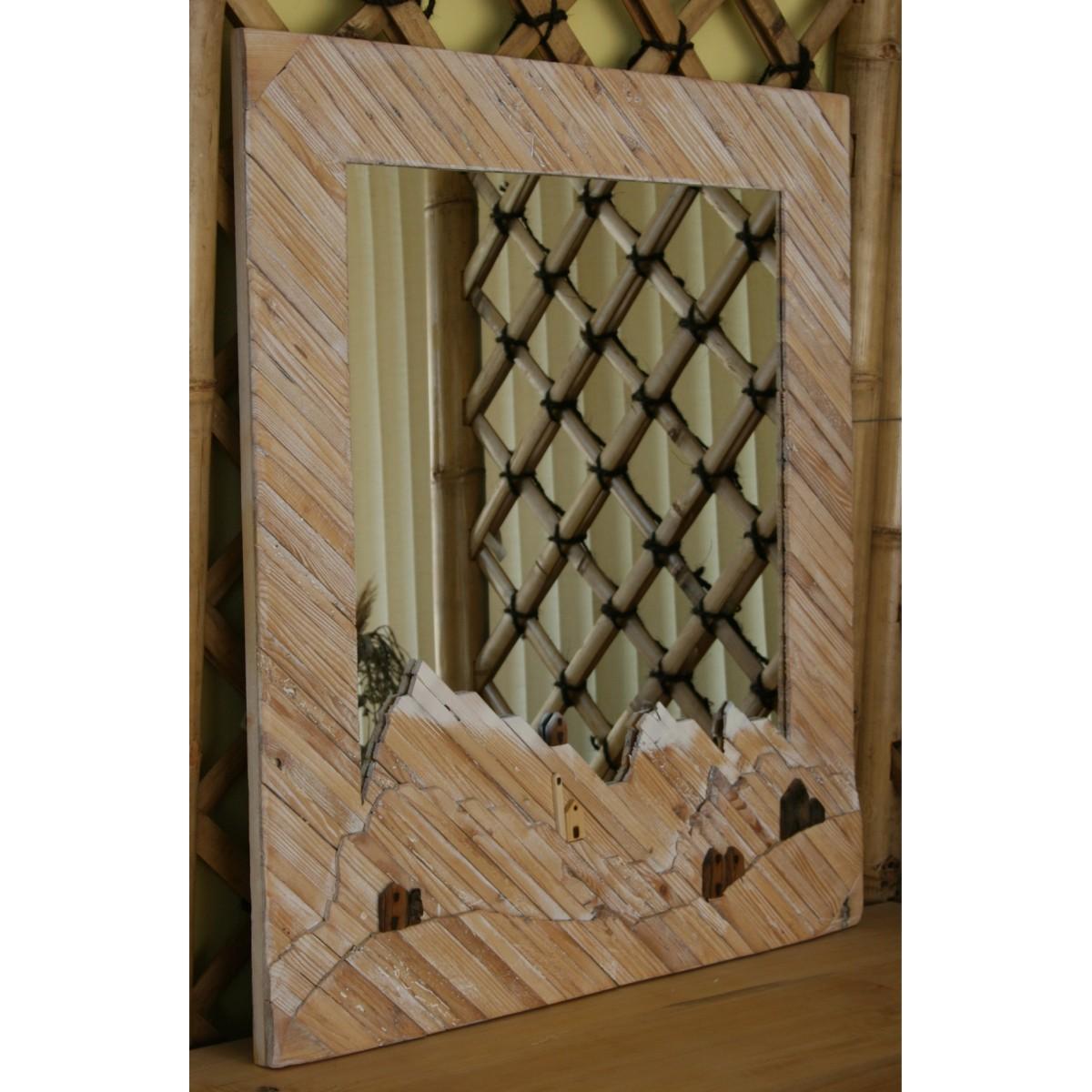 Specchio in legno riciclato