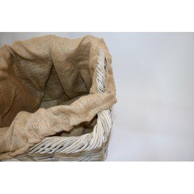 particolare cesto portalegna Vicenza Alu in giunchino grigio decapato