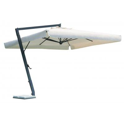 ombrellone a braccio in alluminio modello Leonardo con volant o pendente