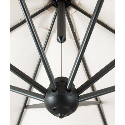 particolare ombrellone a braccio in alluminio modello Leonardo