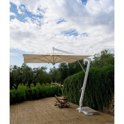 ombrellone Pompei braccio senza pendente con base in appoggio