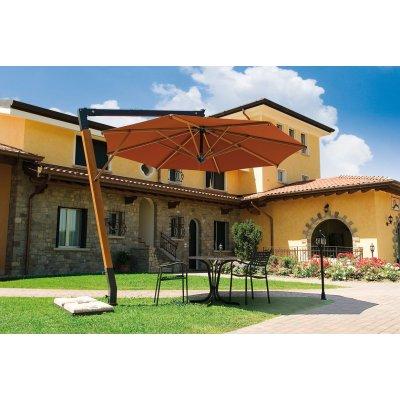 Palladio diametro 3,5, senza volant, tessuto Terracotta T2, zavorre cod BC5151
