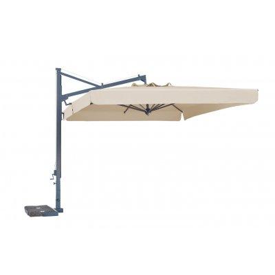 ombrellone retrattile Galileo Dark con tessuto Ecru A1 con pendente
