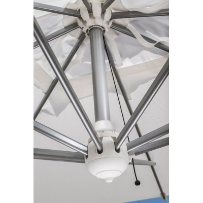particolare soffietto ombrellone retrattile Galileo Inox