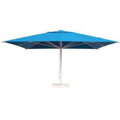 ombrellone Capri Starwhite, senza volant, base su supporto appoggiato tipo C 4040LEB con carter BDW
