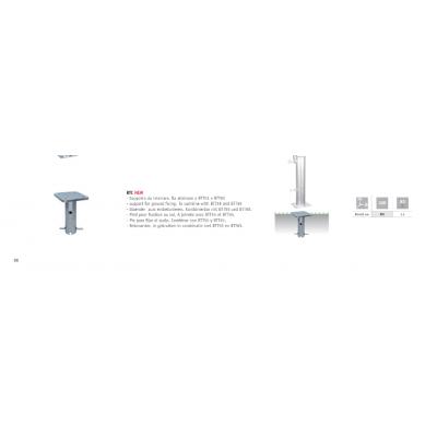 supporto in acciaio zincato da interrare per ombrelloni a palo centrale Scolaro codice BTC