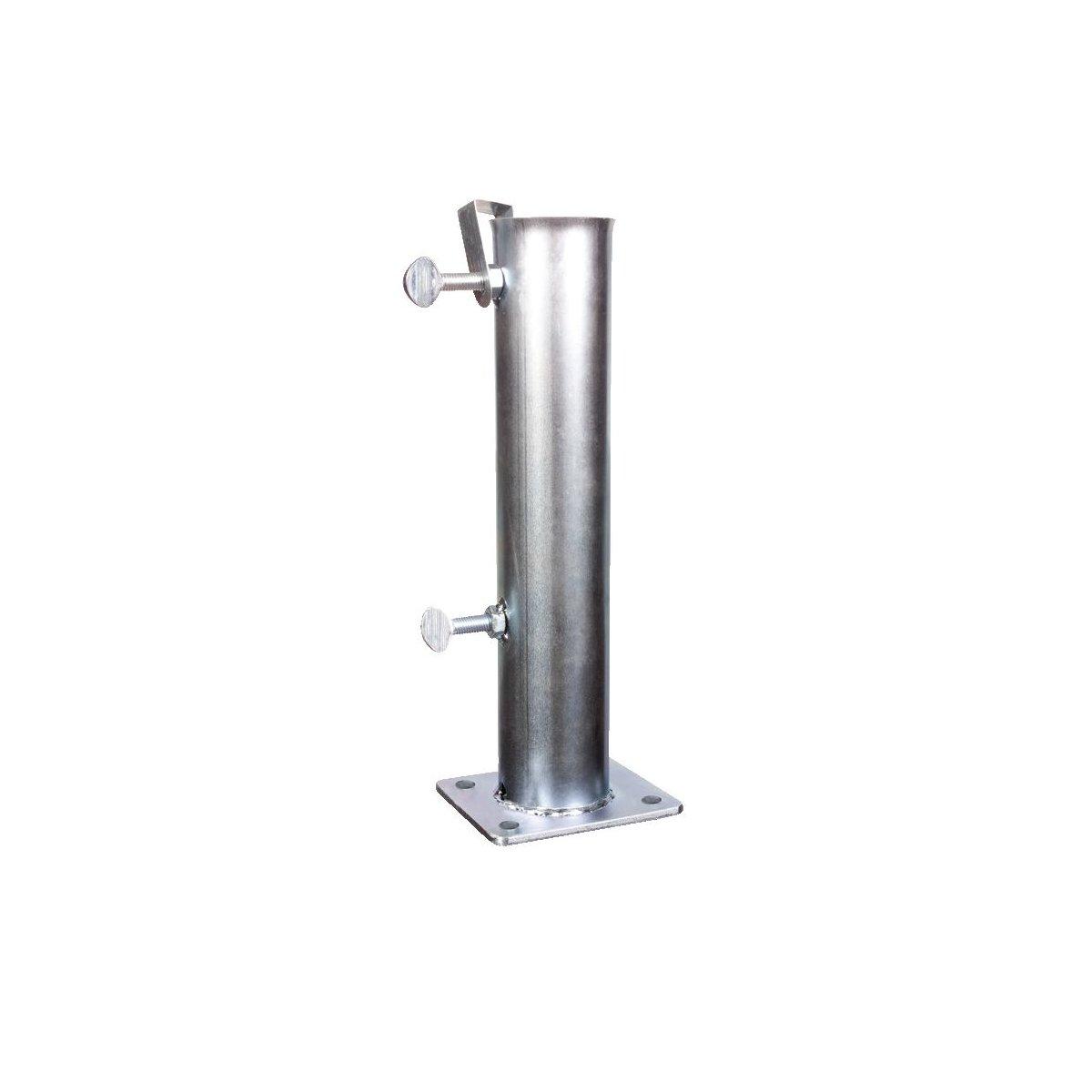 tubo in acciaio per ombrelloni a palo centrale prodotti da Scolaro Parasol serie codice BTT45 - BTT55 - BTT65