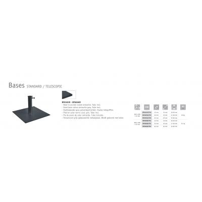 caratteristiche tecniche  delle basi in acciaio colore antracite codice BF6565D e BF6666D