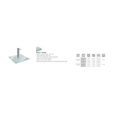 caratteristiche tecniche base in acciaio zincato codice BF6565Z - BF6666Z