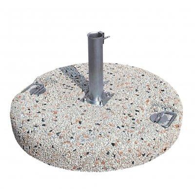 base in cemento e graniglia con tubo codice BC35MA4 - BC55MA4 - BC80MA4