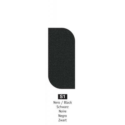 tessuto acrilico Nero s1 - peso 350 grammi al metro quadrato