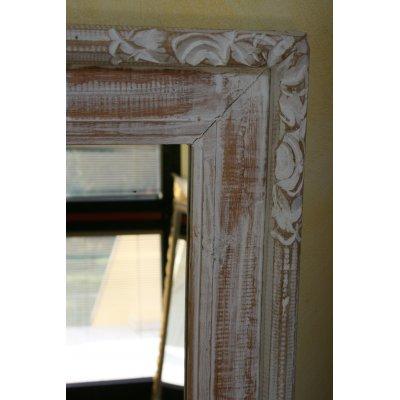 specchio Elisa legno decapato bianco