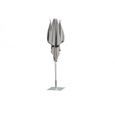 ombrellone a palo centrale Vela, tessuto acrilico Grigio Taupe T6, base in acciaio zincato BF6565Z