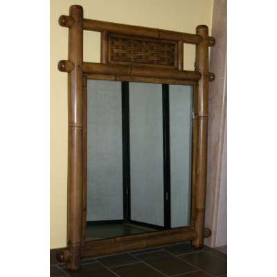 specchio Augusto bambù
