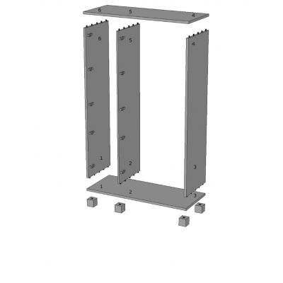 armadio Essential 3 ante battenti - numerazione elementi