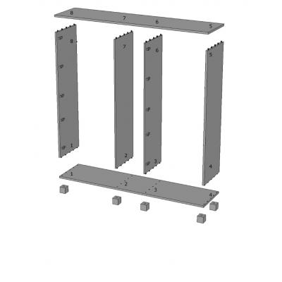 armadio Essential 5 ante battenti - numerazione elementi