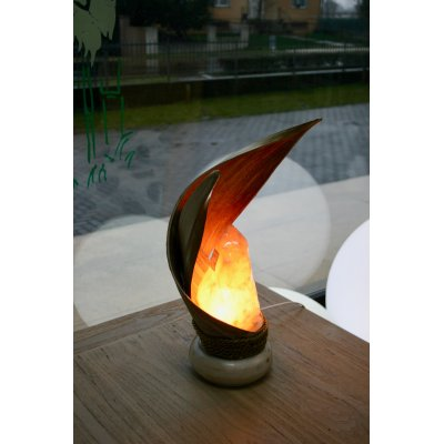 lampada di sale Incrocio decapata bianca codice SAL030