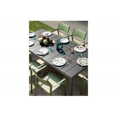 tavolo Rio Alu 210 extensible antracite - particolare piano