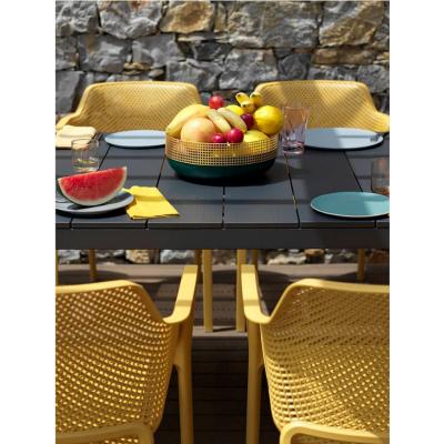 tavolo Rio Alu 210 extensible antracite -particolare piano