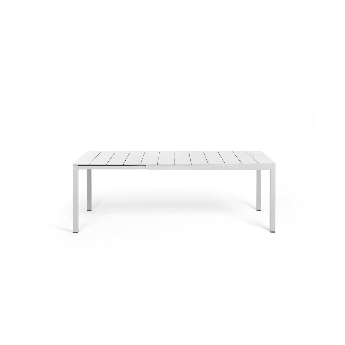 tavolo Rio Alu 140 extensible bianco